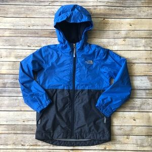 Boys The North Face Blue Hooded Jacket Sz 7/8